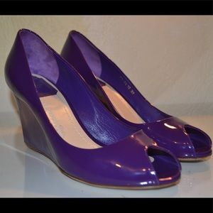 Christian Dior Patent Leather Wedge Heels 37